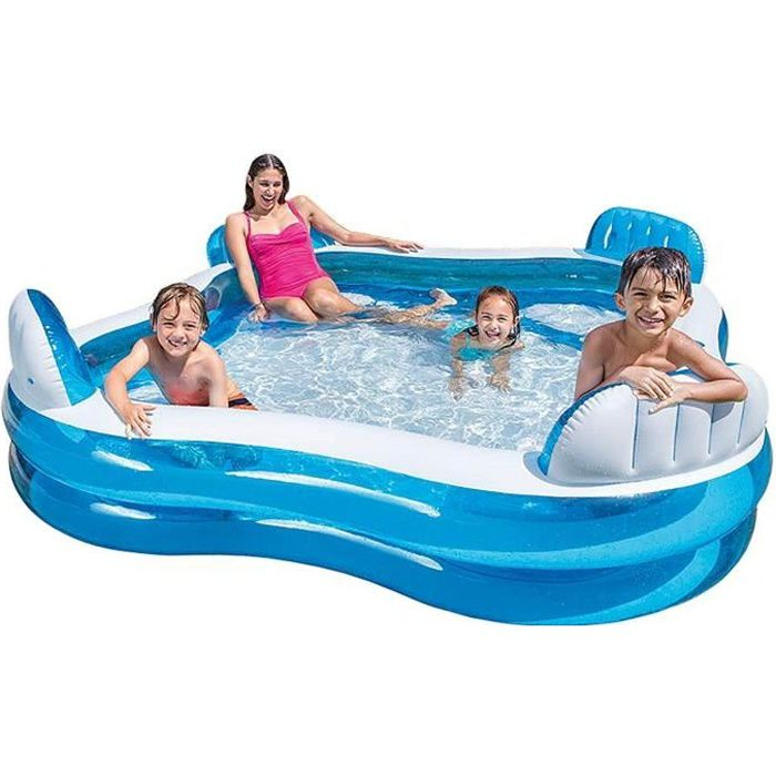 Intex piscine gonflable avec 4 si ges pour enfant et for Piscine gonflable adulte