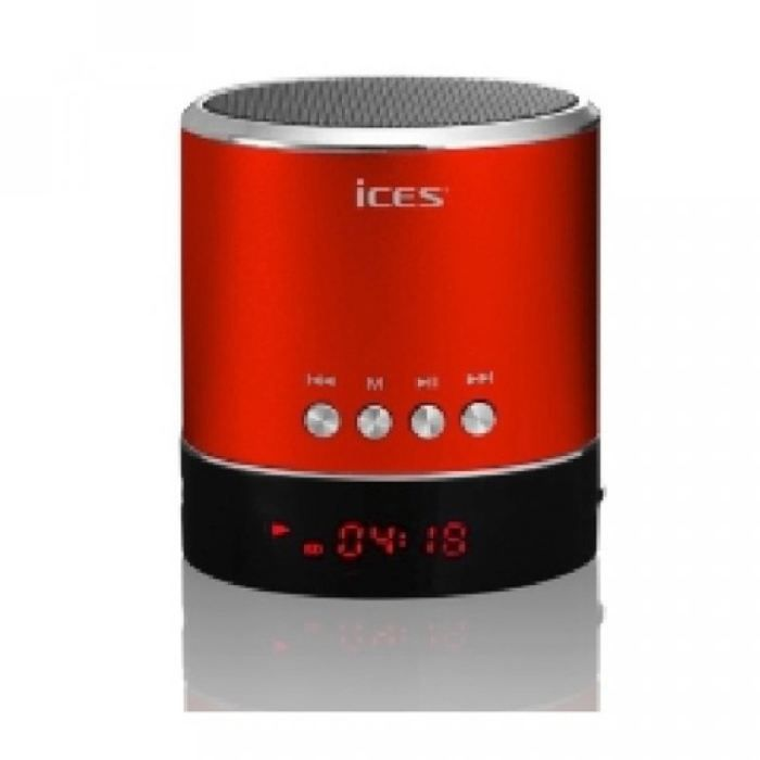 enceinte portable rouge ices avec port micro sd. Black Bedroom Furniture Sets. Home Design Ideas