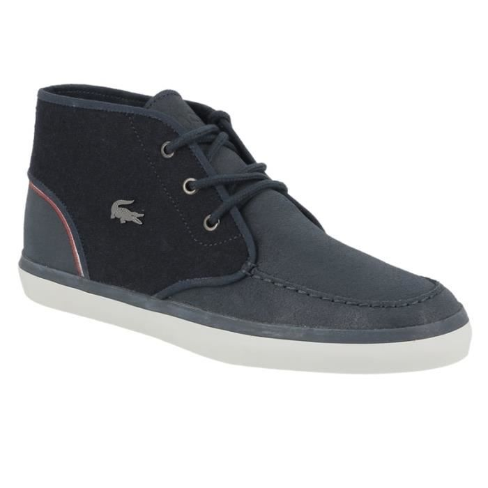 Chaussure lacoste Sevrin mid bleu marine.