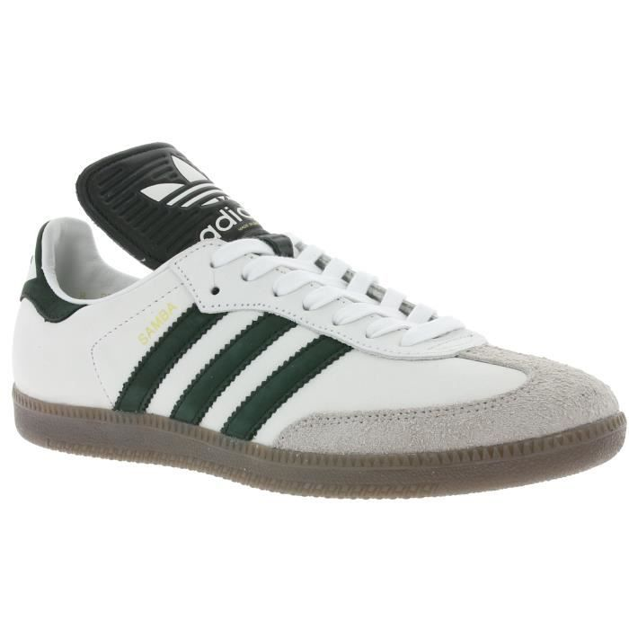 chaussures adidas samba made in germany blanc et noir