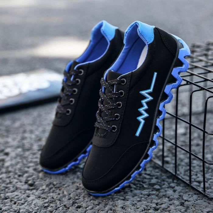 MOCASSIN Lace Up solides Sport Souliers simple Chaussures e
