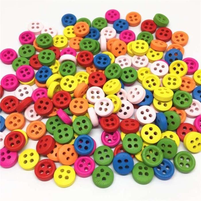 Beige mat 2 trous button sewing mercerie Lot 6 BOUTONS  NEUFS 23 mm