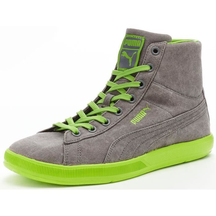 UK 355536 Washed 8EU Puma Vert en Mid Chaussures 03 42 Lite Gris Baskets Archive qzHPwfxw6