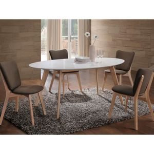 TABLE À MANGER SEULE Table ovale 8 personnes - Montana - 160 x 90 x 75