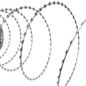 CLÔTURE - GRILLAGE Fil de fer barbelé NATO Rouleau hélicoïdal Acier g