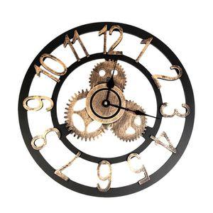 HORLOGE - PENDULE Vintage style industriel Horloge murale européenne