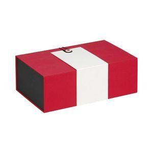 COFFRET CADEAU ÉPICERIE Coffret rectangle rouge et crème