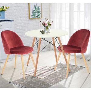 TABLE À MANGER SEULE Homy Casa Table à manger ronde 2 à 4 personnes - S