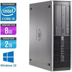 UNITÉ CENTRALE  Pc de bureau HP Elite 8200 - i5 - 8Go -HDD 2 To -W