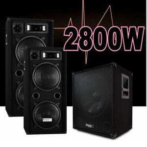 PACK SONO PACK SONO 3800W / CUBE1512 + 2 ENCEINTES 1000W