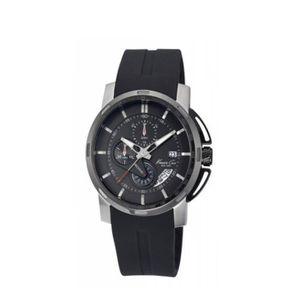 MONTRE Montre chrono pour homme bracelet silicone noir Ke