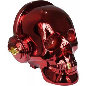 ENCEINTE NOMADE Enceinte haut parleur bluetooth tête de mort rouge