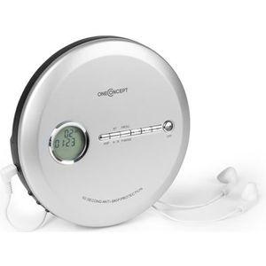 BALADEUR CD - CASSETTE oneConcept CDC 100MP3 Discman Lecteur CD LCD ASP A