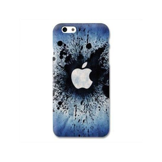 Coque Iphone 8 apple vs android taille unique Pomme Eclaboussure N
