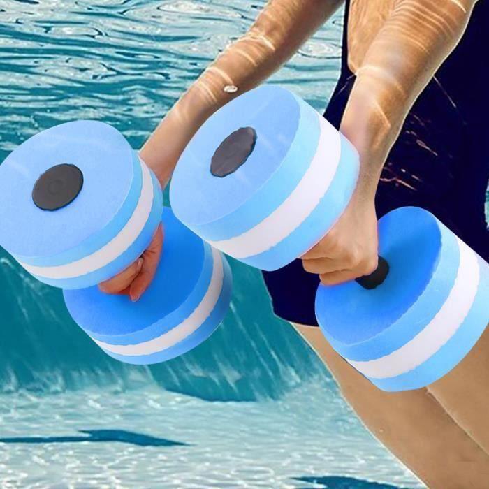 Dss-haltère d'eau 1 paire de flotteur d'eau musculation entraînement fitness yoga haltère haltère (bleu)