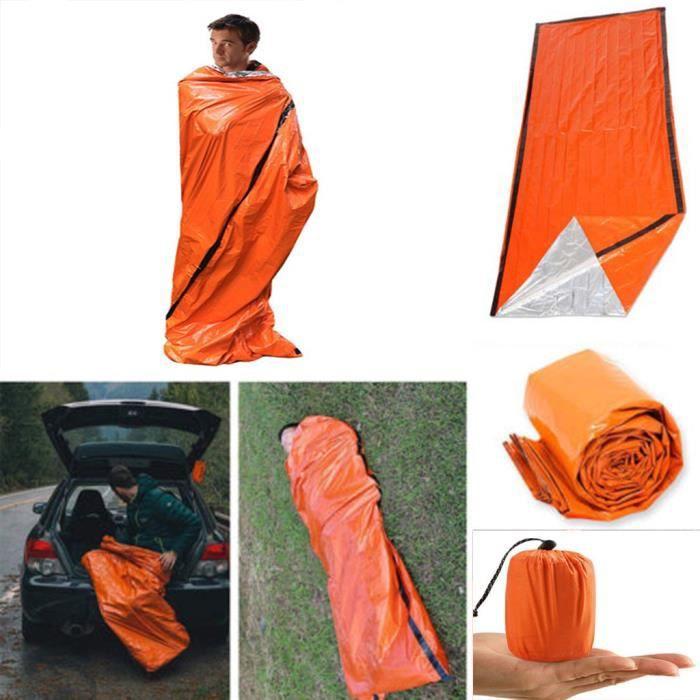 Parasol-Abri de plage-Tente de plage Sac de couchage d'urgence thermique étanche pour la survie en plein air camping randonnée