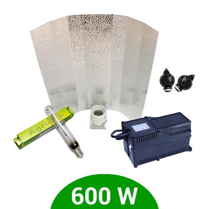 Kit lampe 600W HPS Agrolite + Agrolite class 2 + Stucco