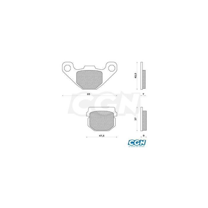 Plaquette frein 25 doppler av adapt. speedfight/kisbee/drd racing/xtrem/ar rs4 12- (pr)
