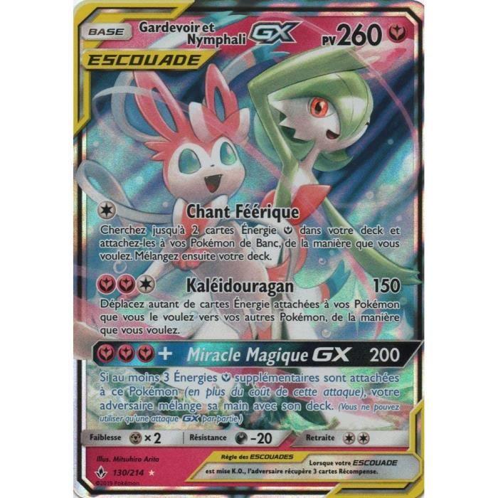 Packs et sets de cartes à collectionner Carte Pokémon SL10 : Gardevoir et Nymphali GX Escouade 260 PV 130-214 - Ultra Ra 236639