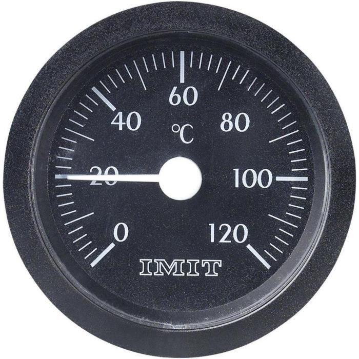 Thermomètre à capillaire à encastrer 0 à 120 °C Ø 52 mm