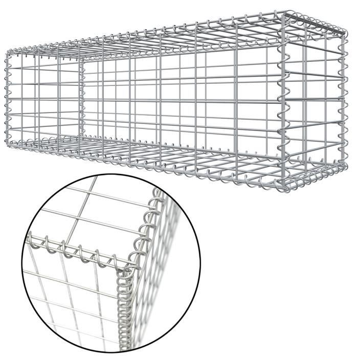 Niederberg Metall Gabion en pierre 100x30x30 MW 5x10 Cage métallique Déco Jardin