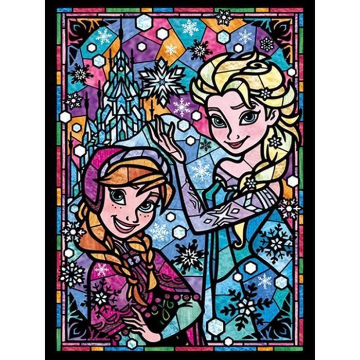 ZLB88 5D-DIY-Full Diamond-Diamond Painting-Disney Movie-princesseCartoon-Diamond-Mosaïque-Broderie Taille:40x50CM