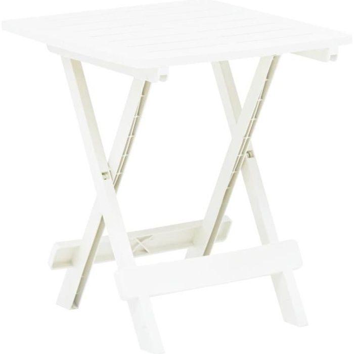 Table de Jardin Pliable - Table de reception pliante fête Buffet Jardin Camping Party- Blanc 45x43x50 cm Plastique