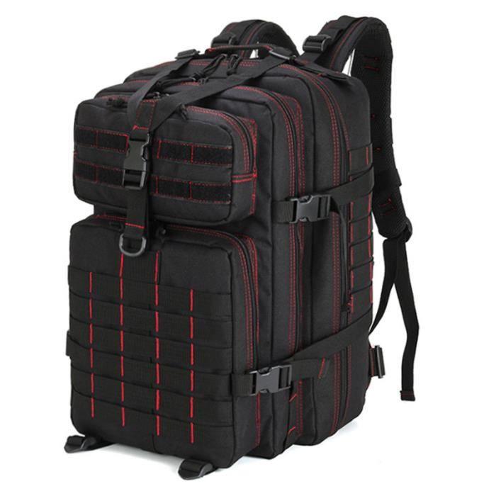 Black 2 -Sac à dos militaire tactique 50l 3P pour hommes, sac à dos souple, étanche, grande capacité, pour pêche, chasse, randonnée