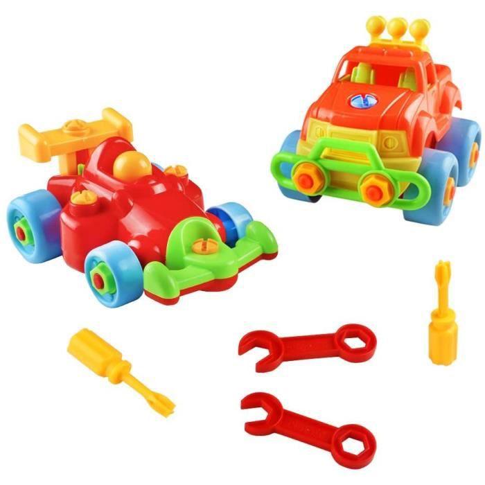 Vehicule Construction Jeu Assemblage,Enfant Jouet Voiture Jeu Construction Jeep avec 2 Pcs pour Garcon Fille 3 Ans 4 Ans 5 Ans