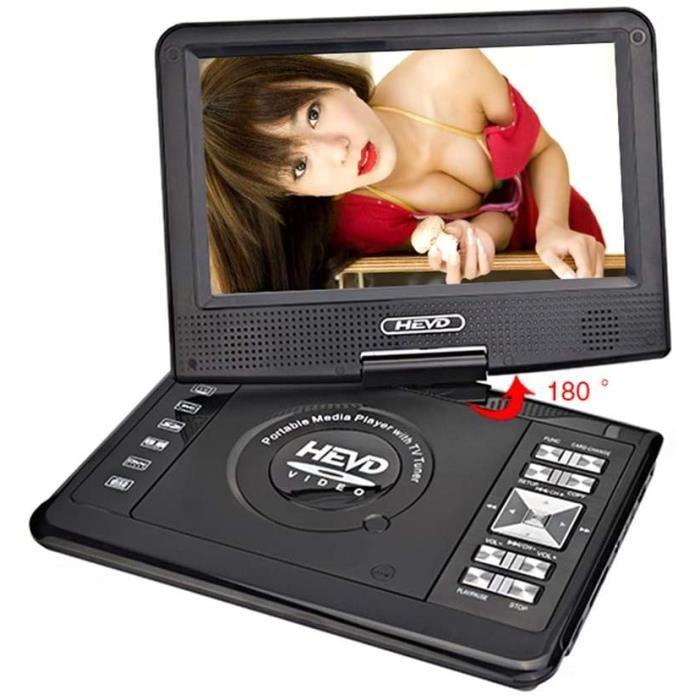 HARMON Lecteur DVD Portable TV 9.8 Pouces pour Voiture Maison Numérique avec Écran USB HD Support TV Jeu MPEG DVD VCD CD MP3 Rad661