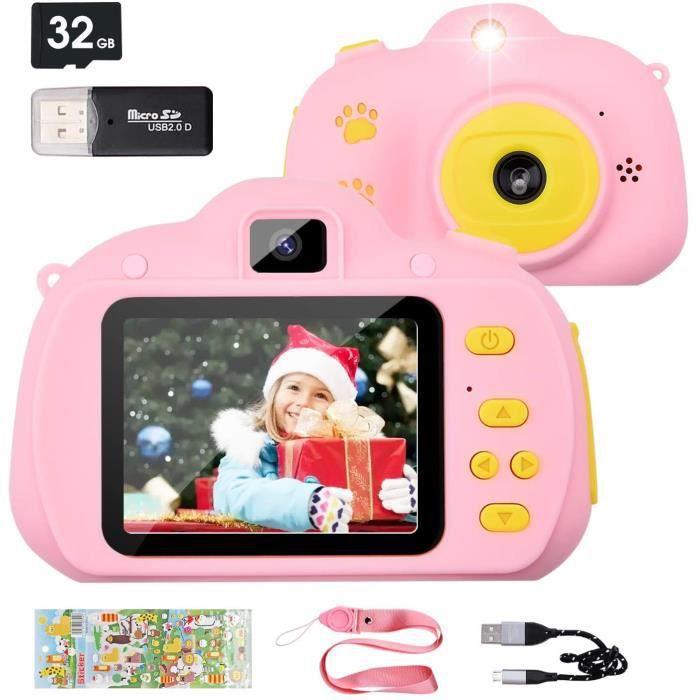 Appareil Photo pour Enfant,2.4 Pouces Appareil Photo Numérique,12 Méga Pixels-1080P Caméra pour Enfant,Objectif Avant et Arrièr[53]