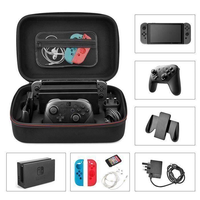 Etui pour Nintendo Switch,Storage Bag Etui de rangement Housse pour la console Nintendo Switch et ses accessoires Y313 L01A60