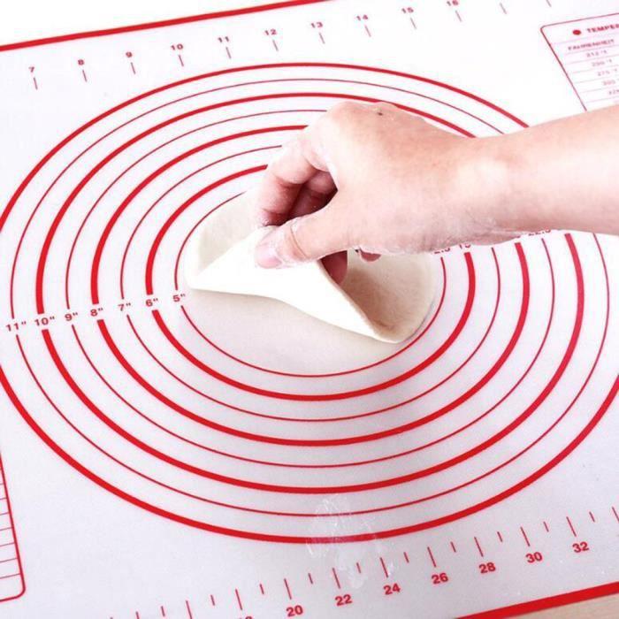 Rouleau à pâtisserie créative,60*40Cm épais Silicone Silicone tapis Silicone pâtisserie tapis cuisine Silicone tapis de qualité