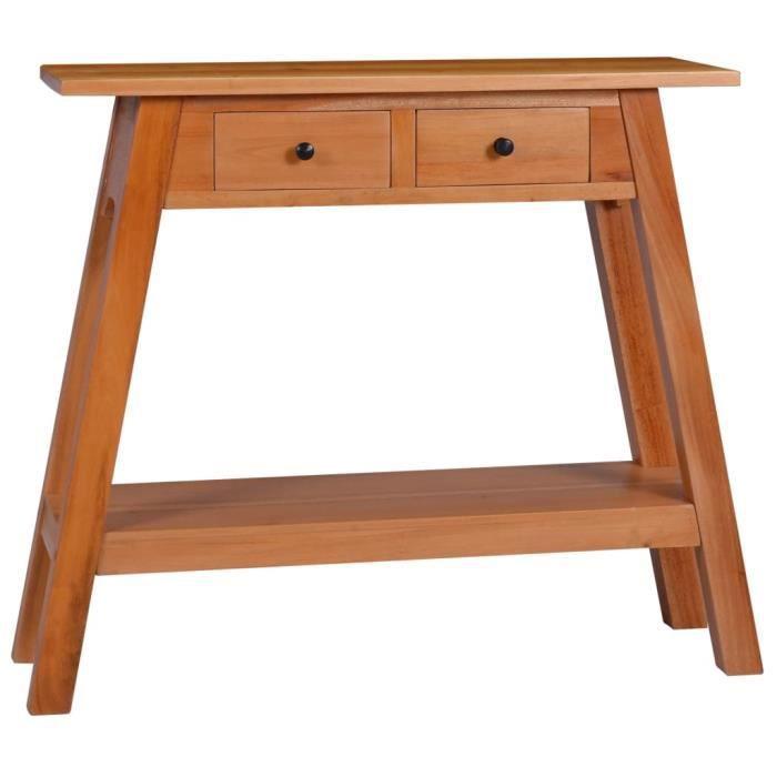 Table console 90x30x75 cm Bois d'acajou massif