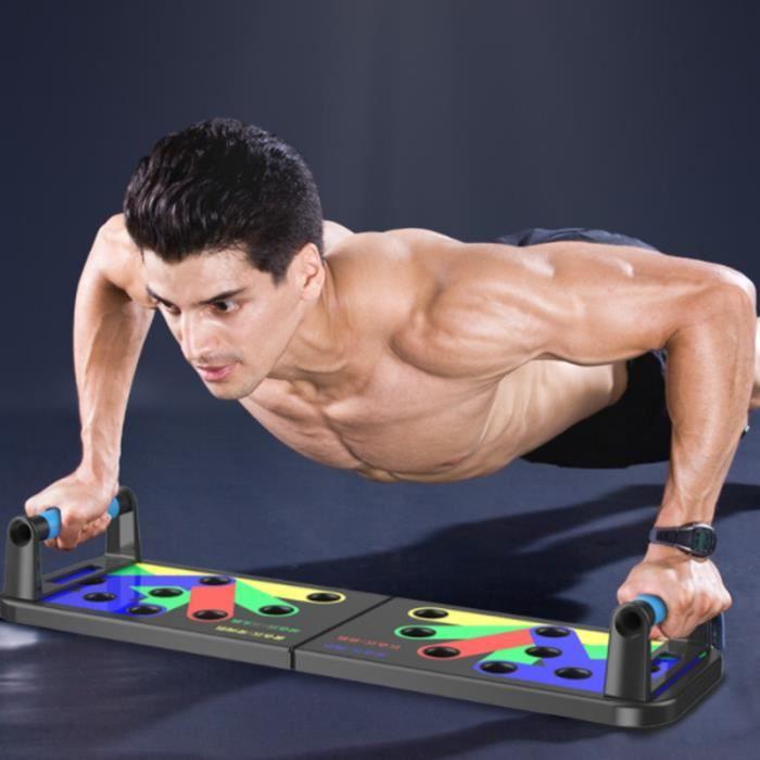 Push Up Rack Board, 12 en 1 équipement de fitness multifonction pliable à la maison, cadre d'entraînement push-up portable