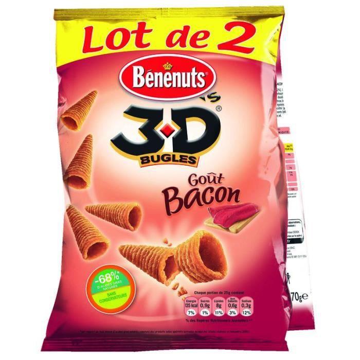 BENENUTS - 3D'S Goût Bacon - 2x 85 g
