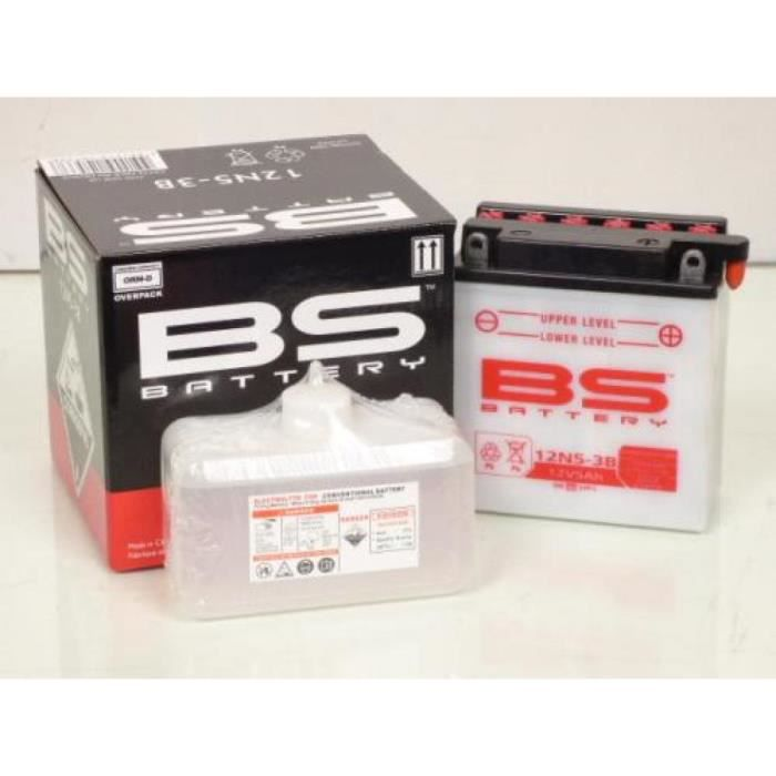 Batterie BS Batterie moto Suzuki 600 DR 1985 - 1989 12N5-3B