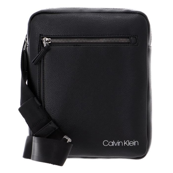 Calvin Klein CK QT Pocket Flat Crossover Black [97225]