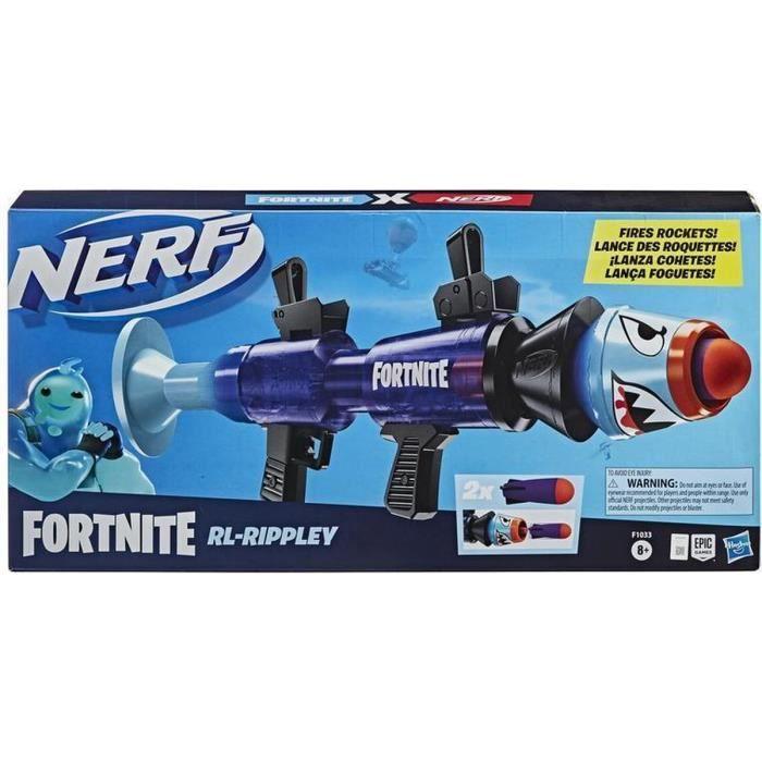Hasbro Nerf Fortnite RL-Rippley F1033 + 8 ans Le blaster jouet jeux pistolet en mousse jouet extérieur plein air
