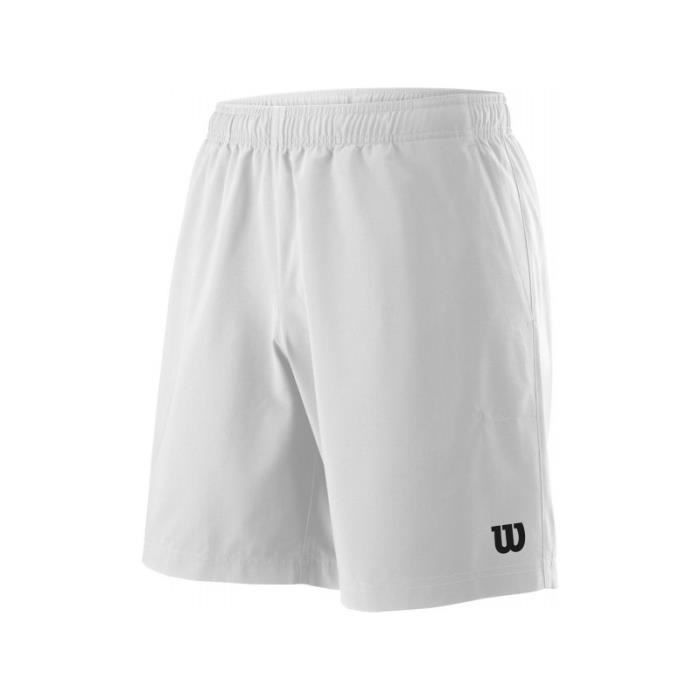 Short WILSON Homme M Team 8 Short Blanc PE 2018