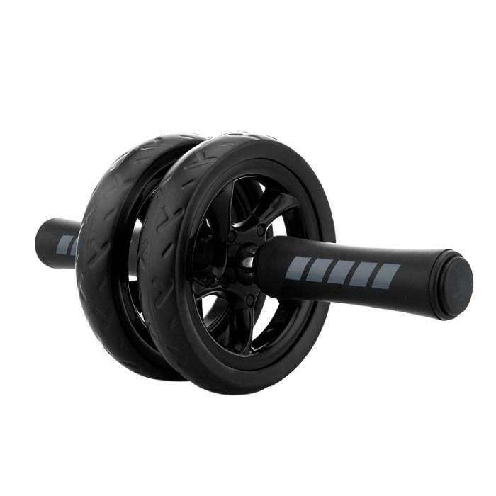 Exercice Ab Wheel Roller Poignée anti-dérapante Double roues Roue abdominale à rouleaux pour entraînement de fitness