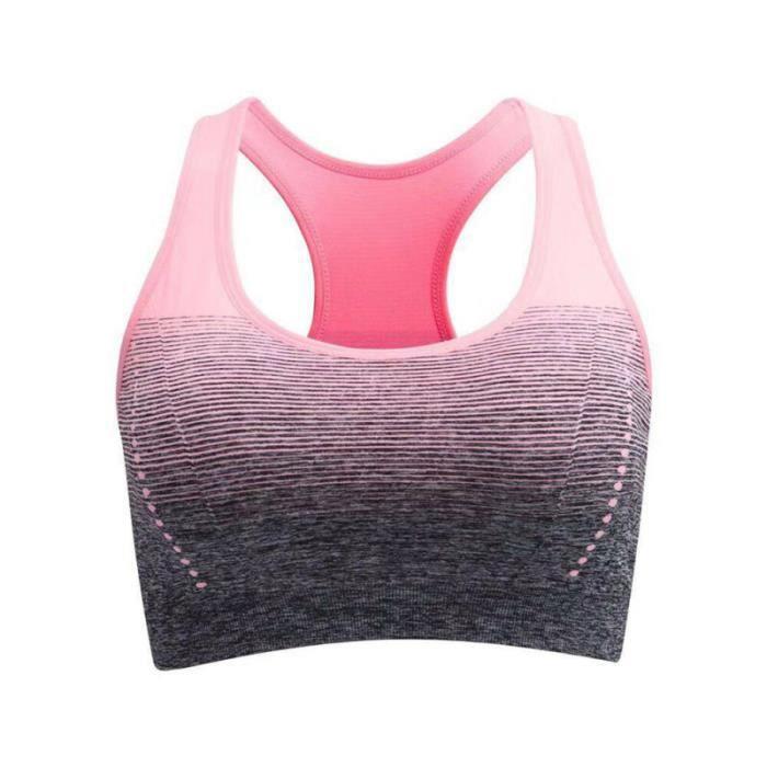 Bra de sport pour femmes Soutien-gorge de Yoga Running Gym Fitness BRASSIERE DE SPORT Rose