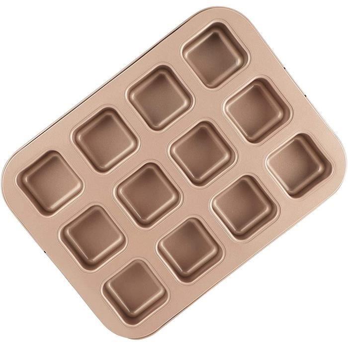 Brownie Tin cuisson Brownie Moule à gâteau de 12 Cavity antiadhésifs Pan Blondie Muffin Bakeware