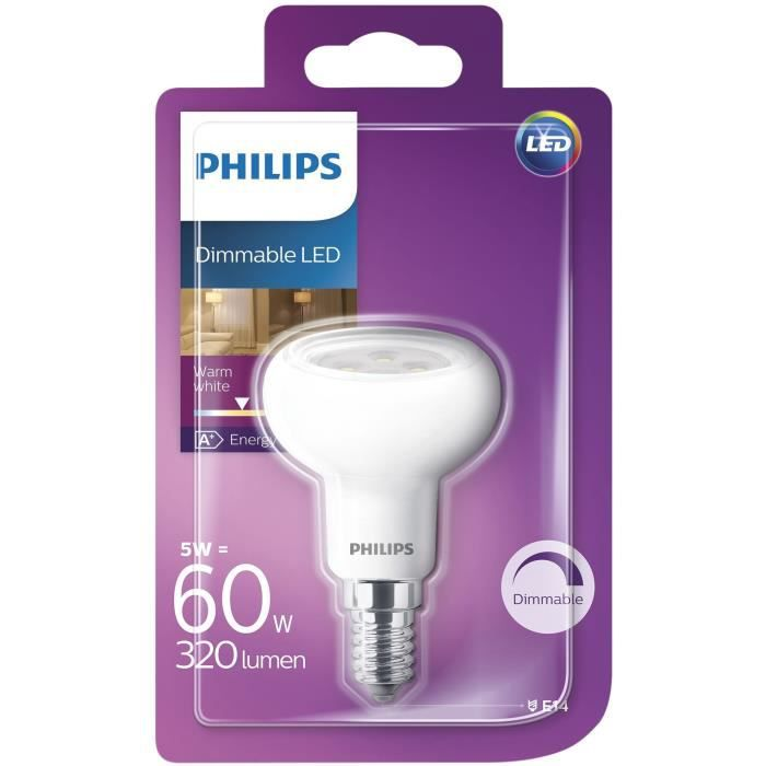 PHILIPS Ampoule Led R50 5-60W E14 Ww 36D