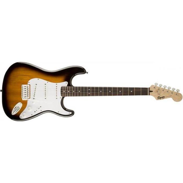 Squier stratocaster bullet strat avec tremolo Brown Sunburst - guitare électrique