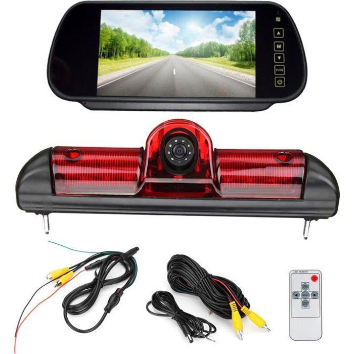 TEMPSA Kit LED Caméra de Recul Voiture Etanche - 7 pouces TFT LCD Moniteur - Pour Fiat Ducato Peugeot Citroën Boxer Relay