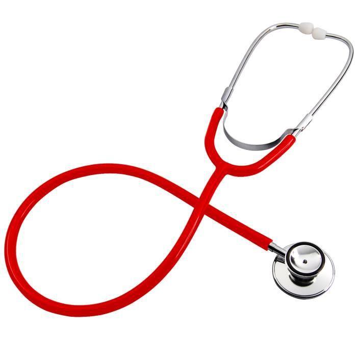 Double Double Headed Stéthoscope pour infirmières Vétérinaires étudiants Maison Healthcare (Rouge)