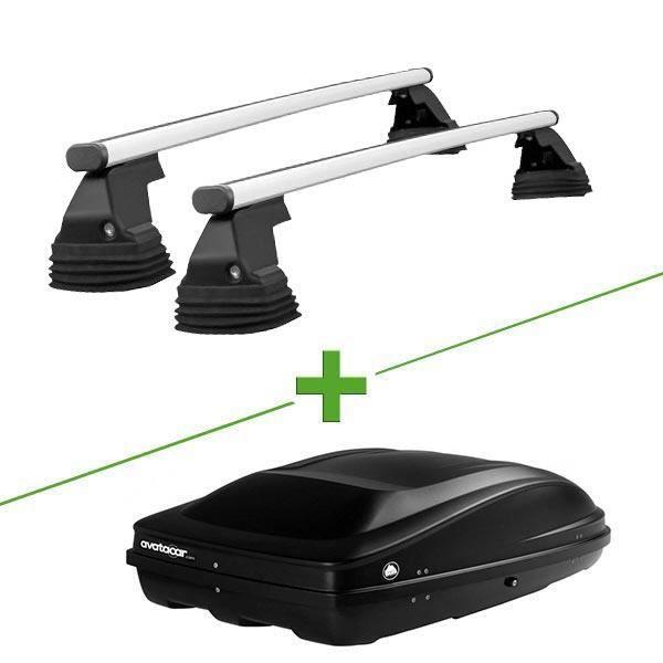 Pack barres et coffre de toit WABB Freedom Alu + Wabb M pour Land rover Range Rover Evoque 5 portes - 3665597895476