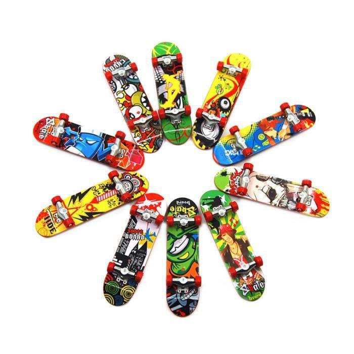 12pcs Finger Skateboards Mini jouets éducatifs de nouveauté en pour les SKATEBOARD - SHORTBOARD - LONGBOARD - PACK