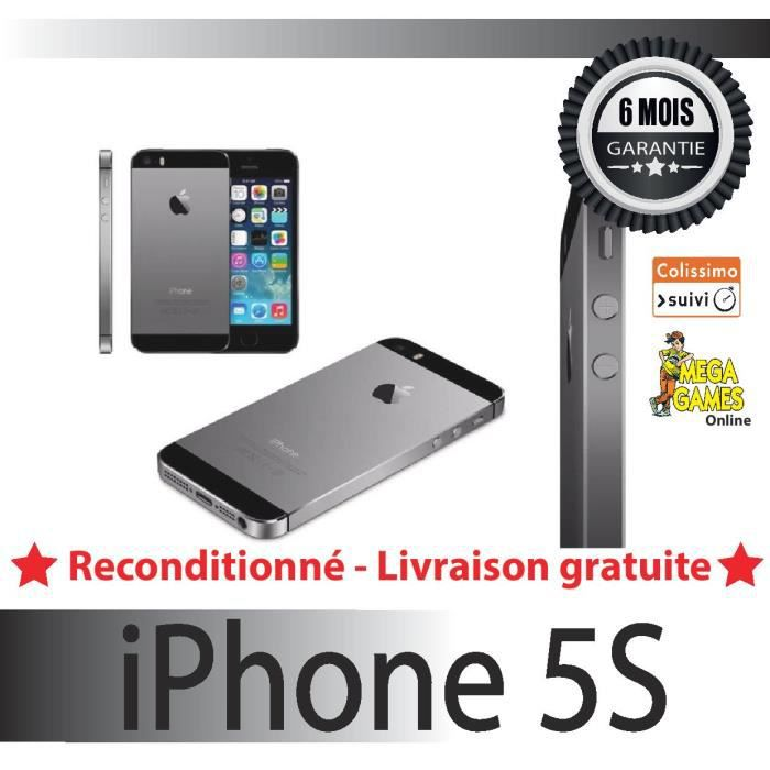 iphone 5s 16gb gris sideral apple achat smartphone pas cher avis et meilleur prix cdiscount. Black Bedroom Furniture Sets. Home Design Ideas